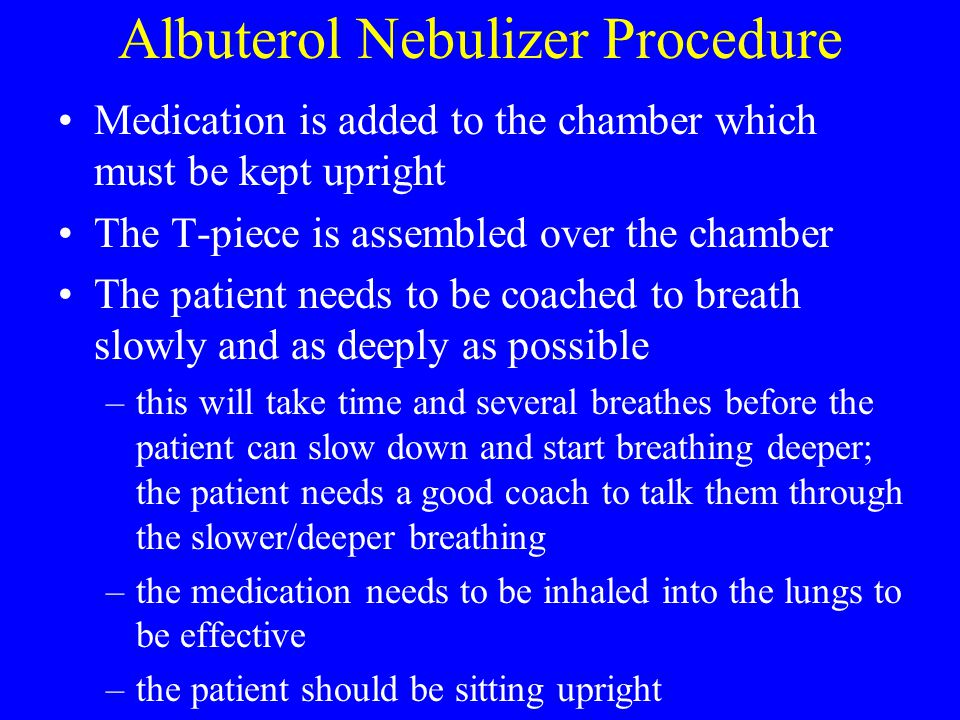 Albuterol Nebulizer Procedure