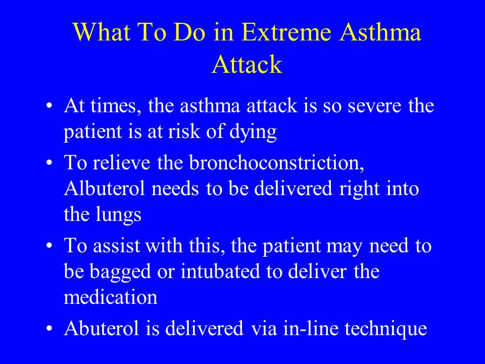 What To Do in Extreme Asthma Attack