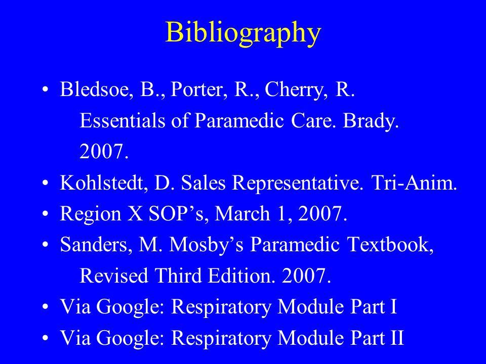 Bibliography Bledsoe, B., Porter, R., Cherry, R.