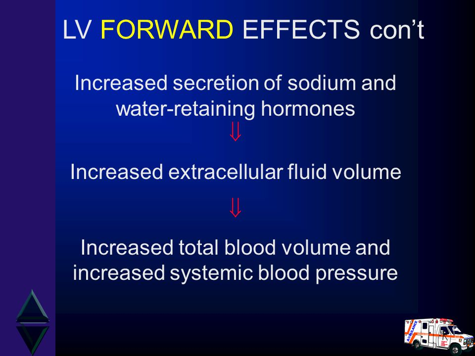 LV FORWARD EFFECTS con't