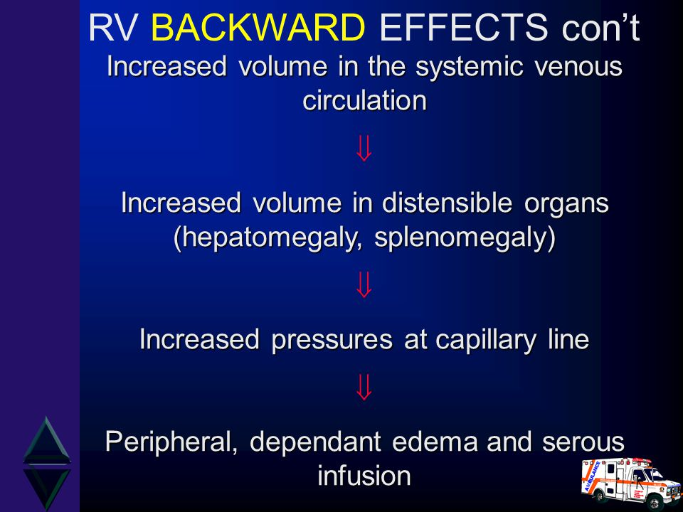 RV BACKWARD EFFECTS con't