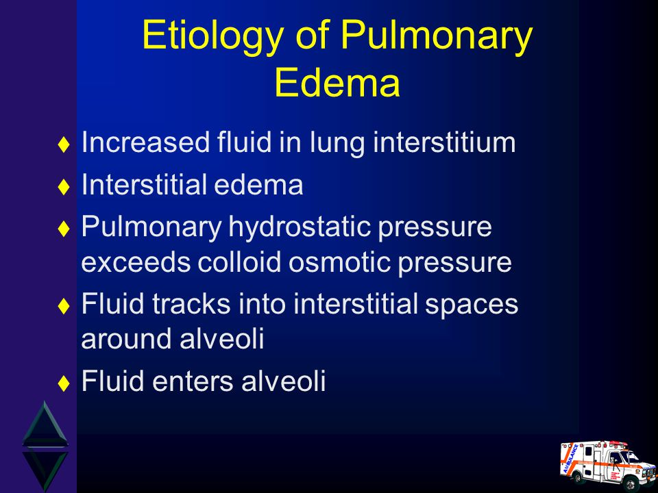 Etiology of Pulmonary Edema