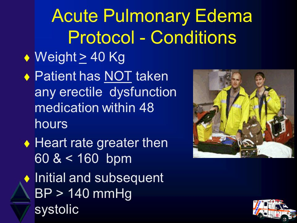 Acute Pulmonary Edema Protocol - Conditions