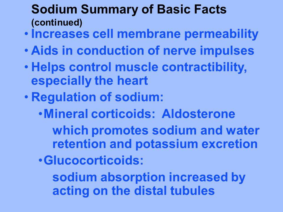 Sodium Summary of Basic Facts