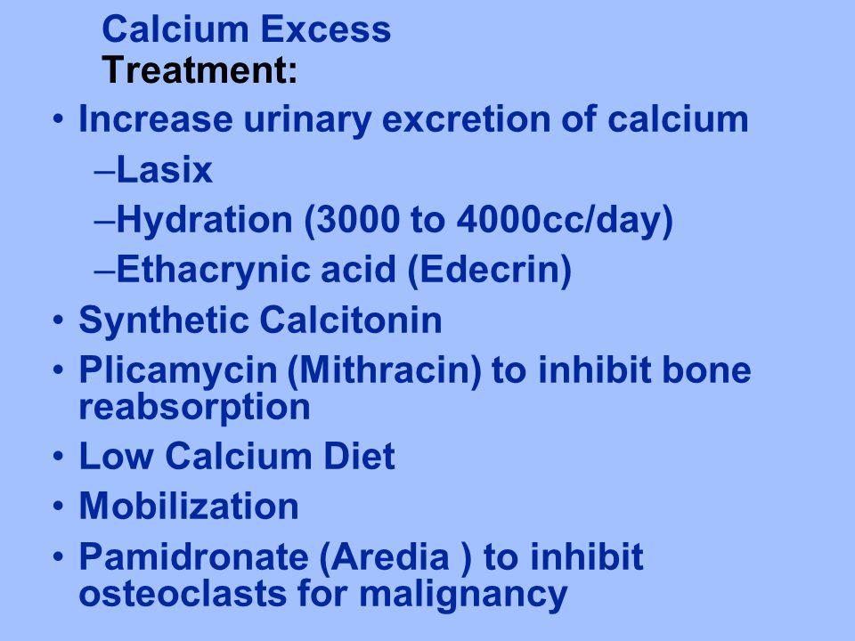 Calcium Excess Treatment: