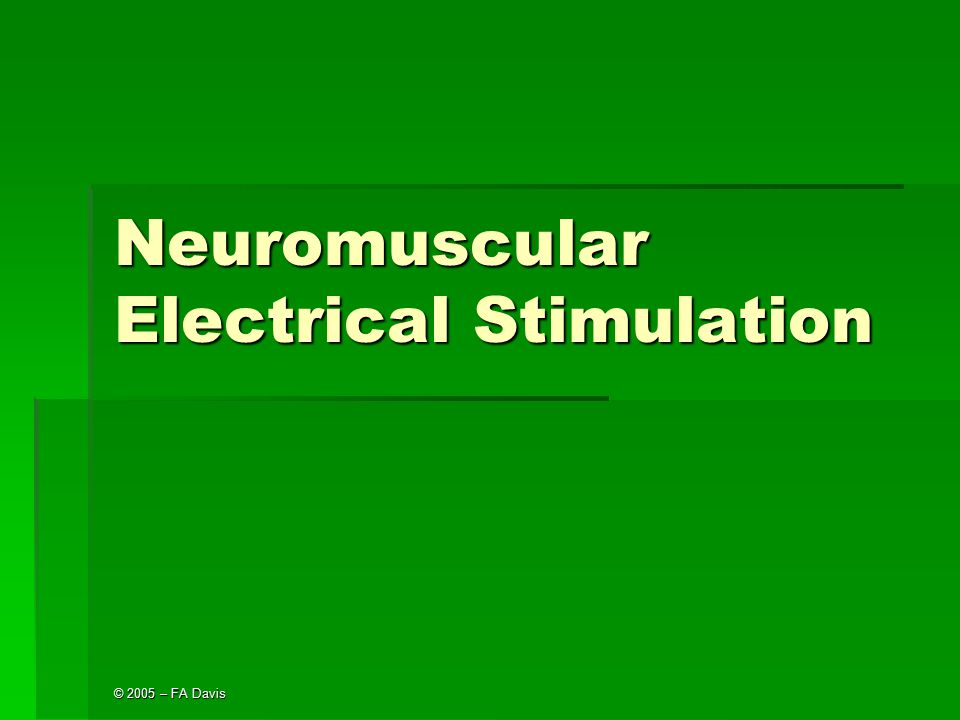 Neuromuscular Electrical Stimulation