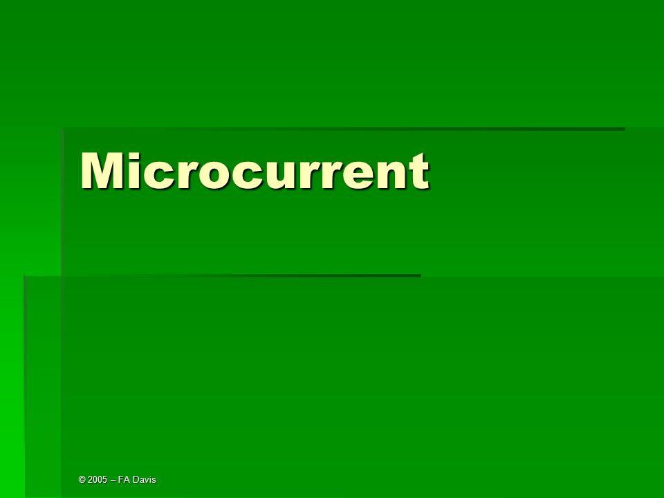 Microcurrent © 2005 – FA Davis