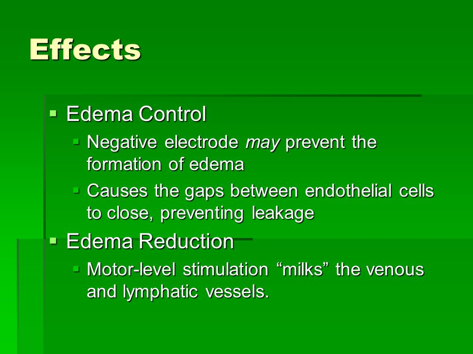 Effects Edema Control Edema Reduction