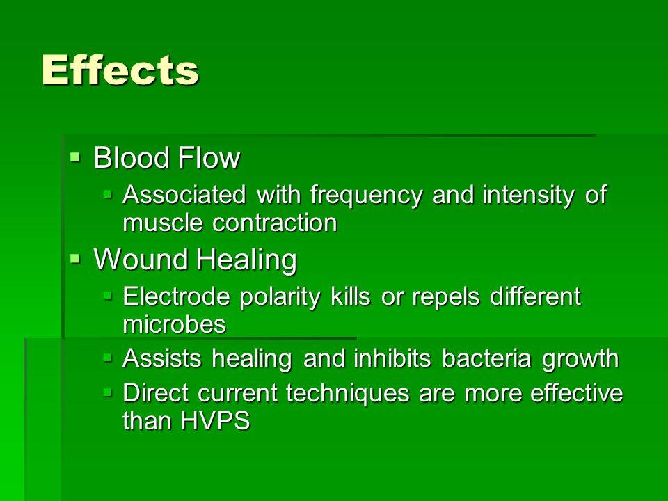 Effects Blood Flow Wound Healing