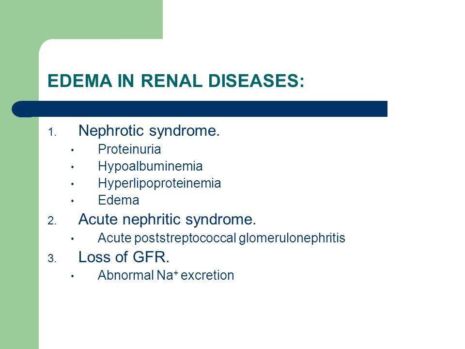 EDEMA IN RENAL DISEASES: