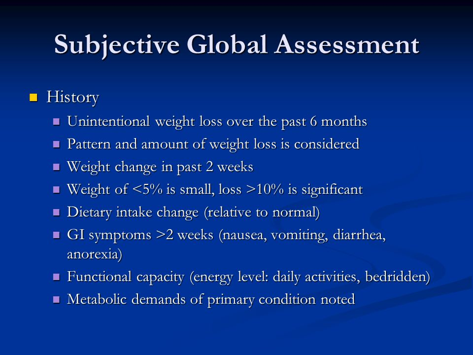 Subjective Global Assessment