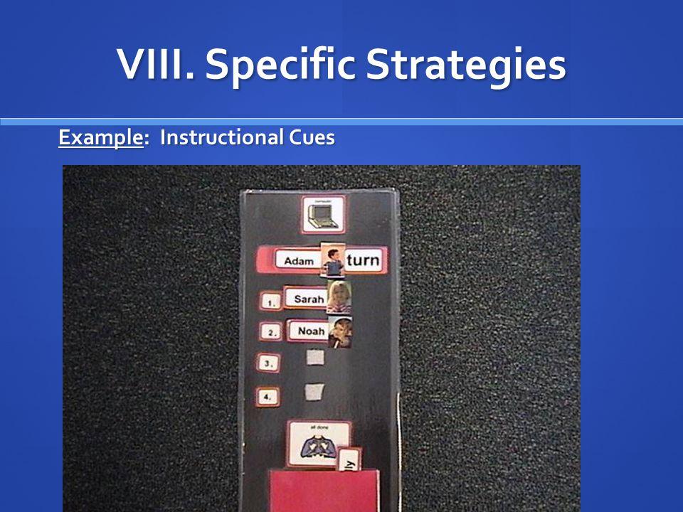 VIII. Specific Strategies