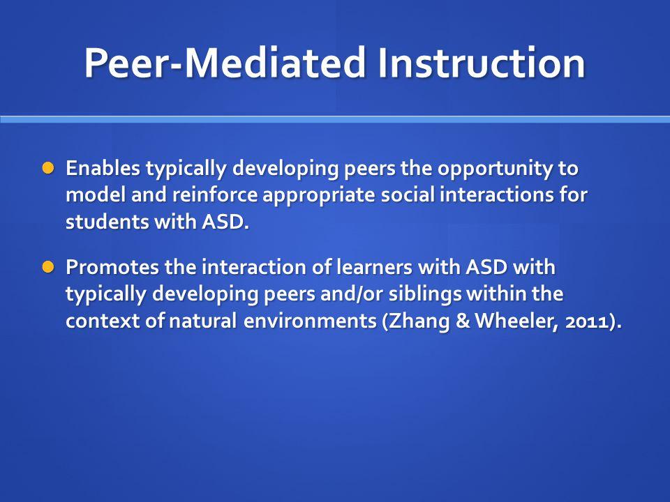 Peer-Mediated Instruction