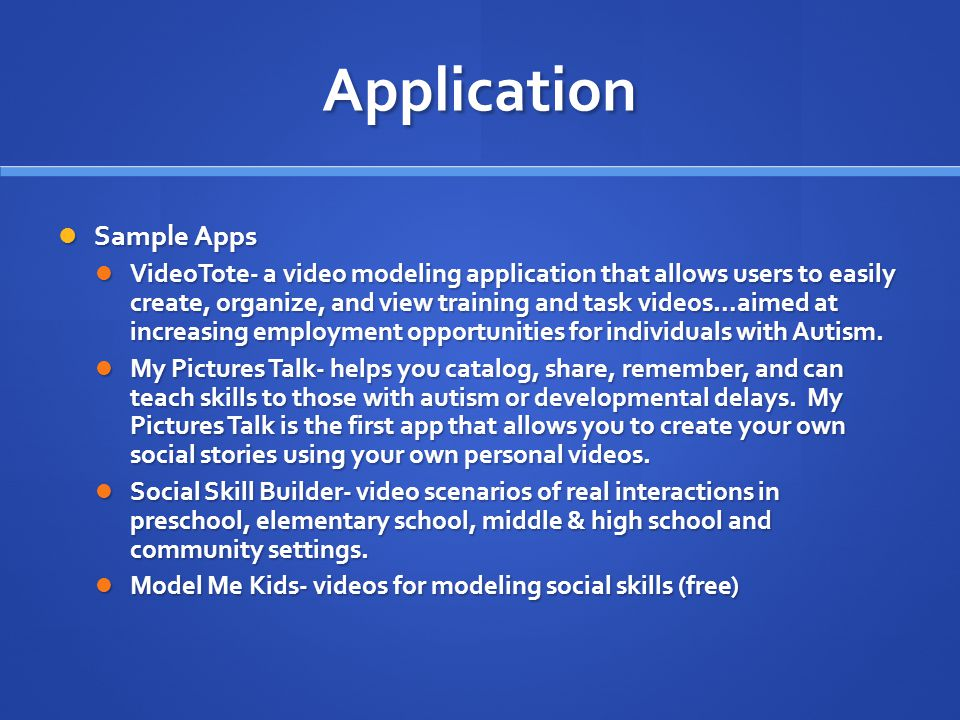Application Sample Apps