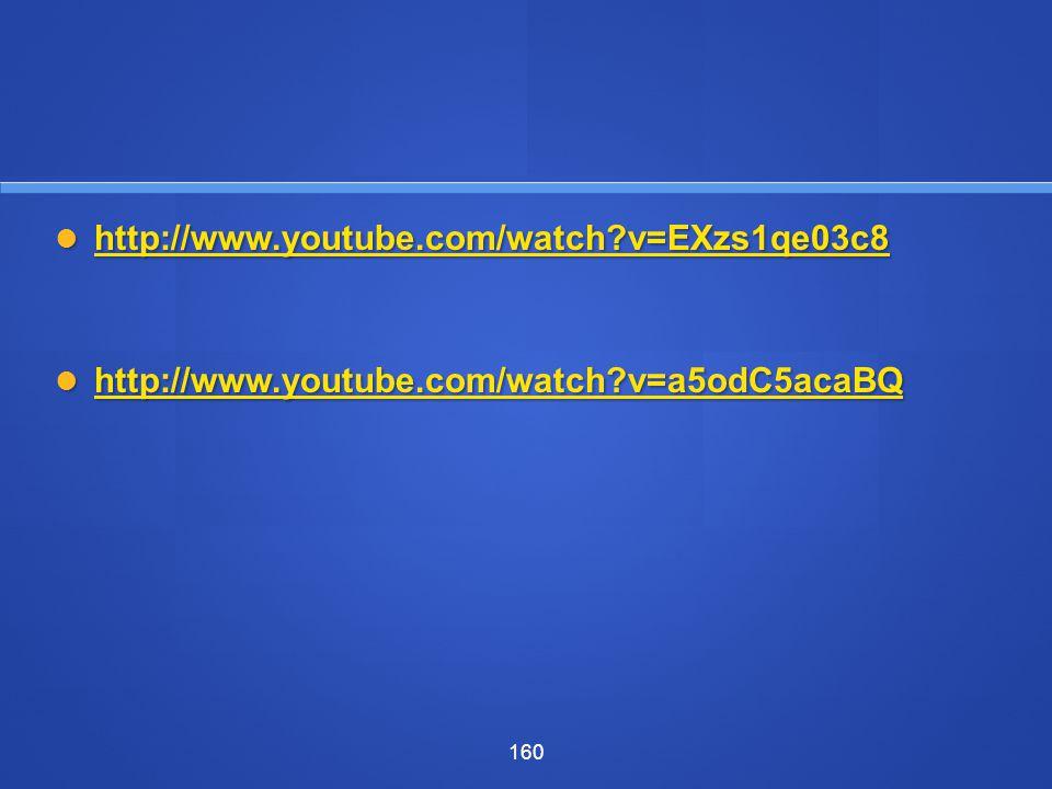 http://www.youtube.com/watch v=EXzs1qe03c8 http://www.youtube.com/watch v=a5odC5acaBQ