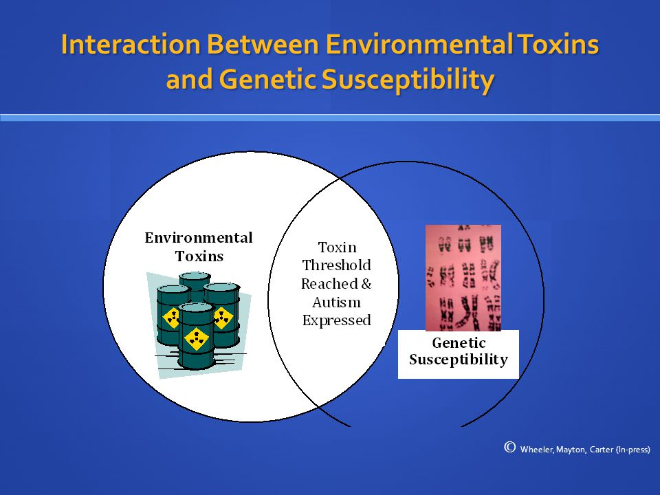 Interaction Between Environmental Toxins and Genetic Susceptibility