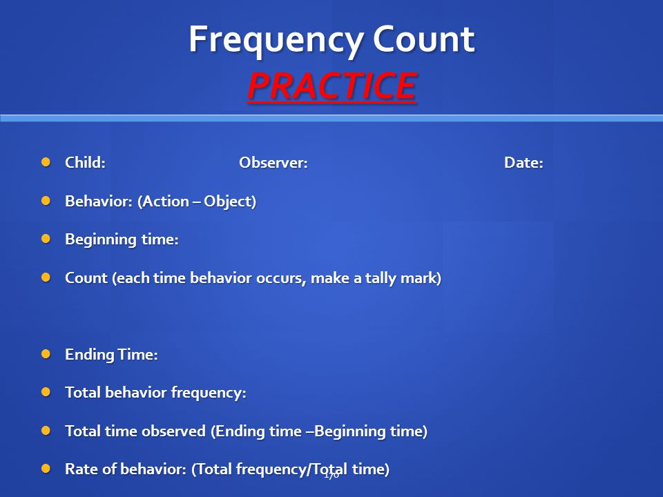 Frequency Count PRACTICE