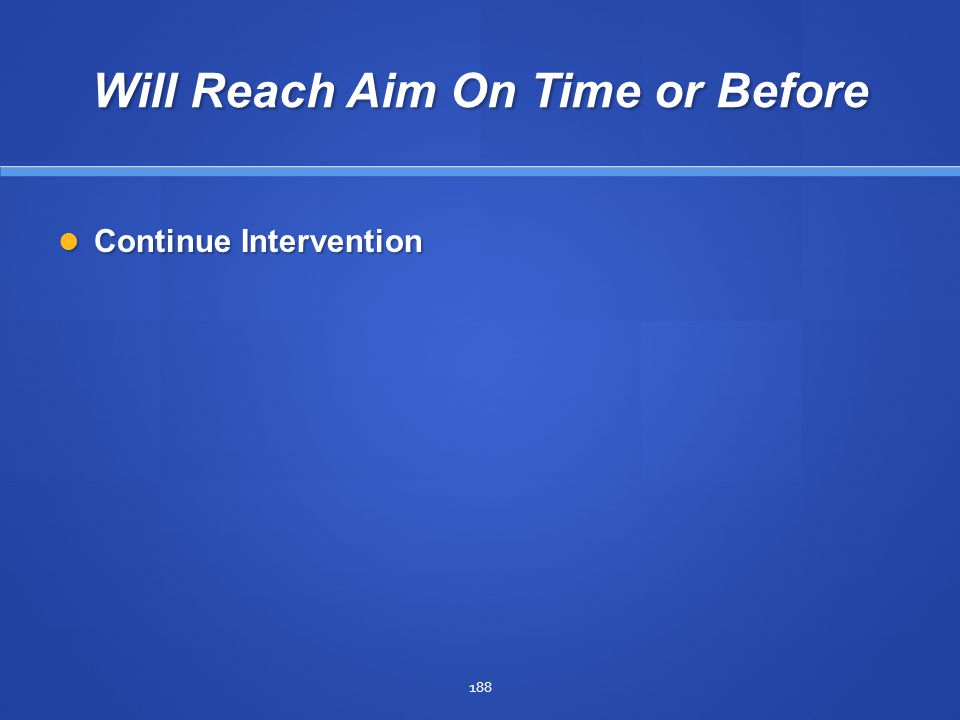 Will Reach Aim On Time or Before