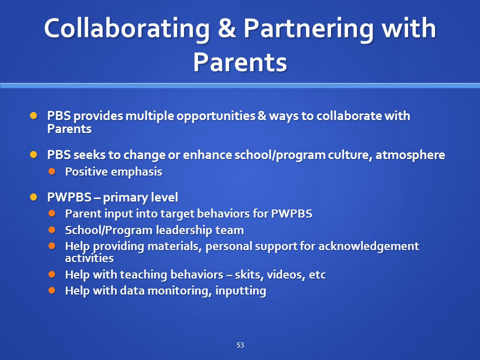 Collaborating & Partnering with Parents
