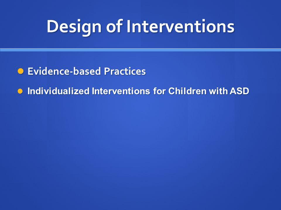 Design of Interventions