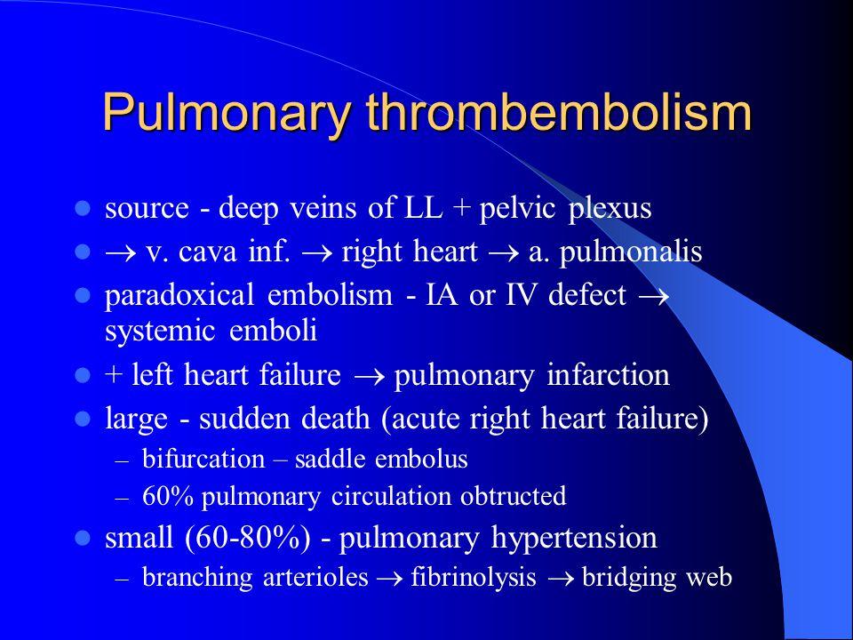 Pulmonary thrombembolism