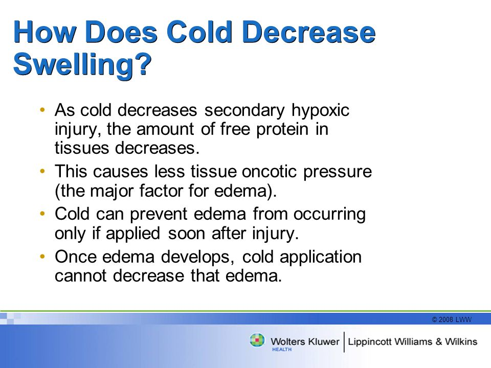 How Does Cold Decrease Swelling