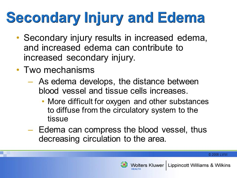 Secondary Injury and Edema