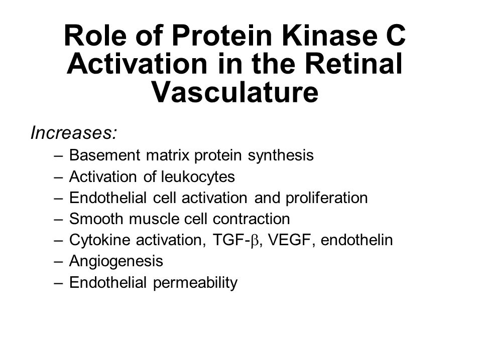 Role of Protein Kinase C Activation in the Retinal Vasculature