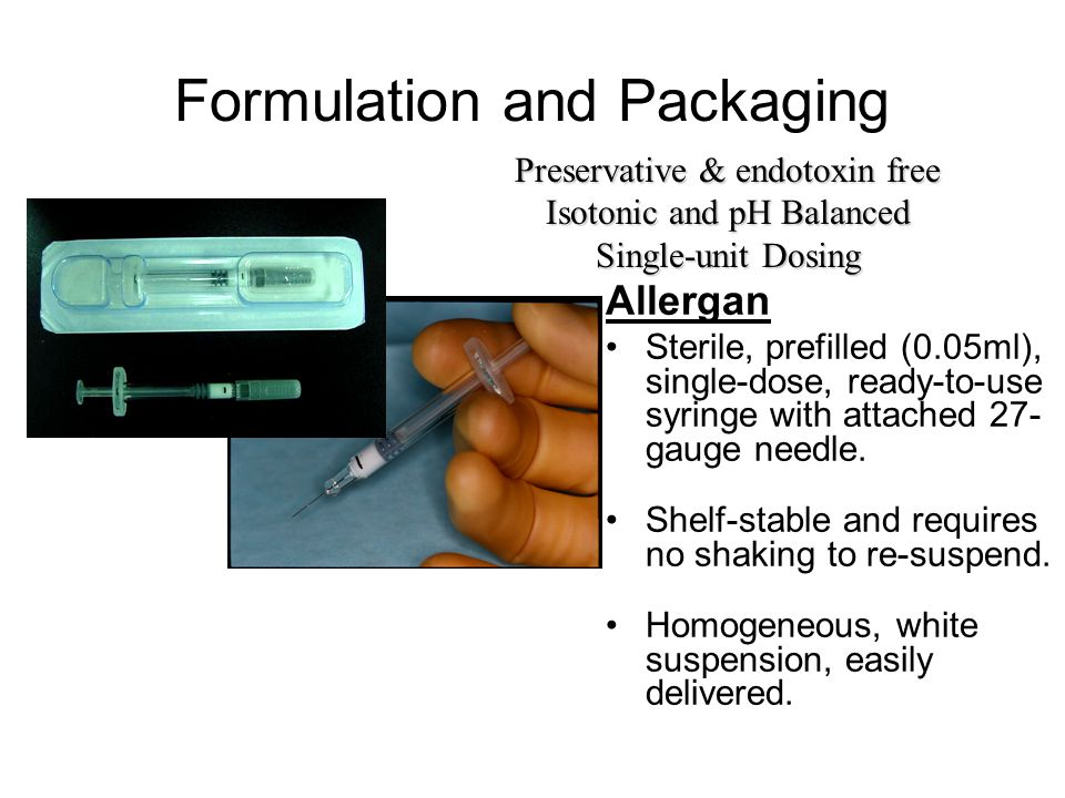 Formulation and Packaging