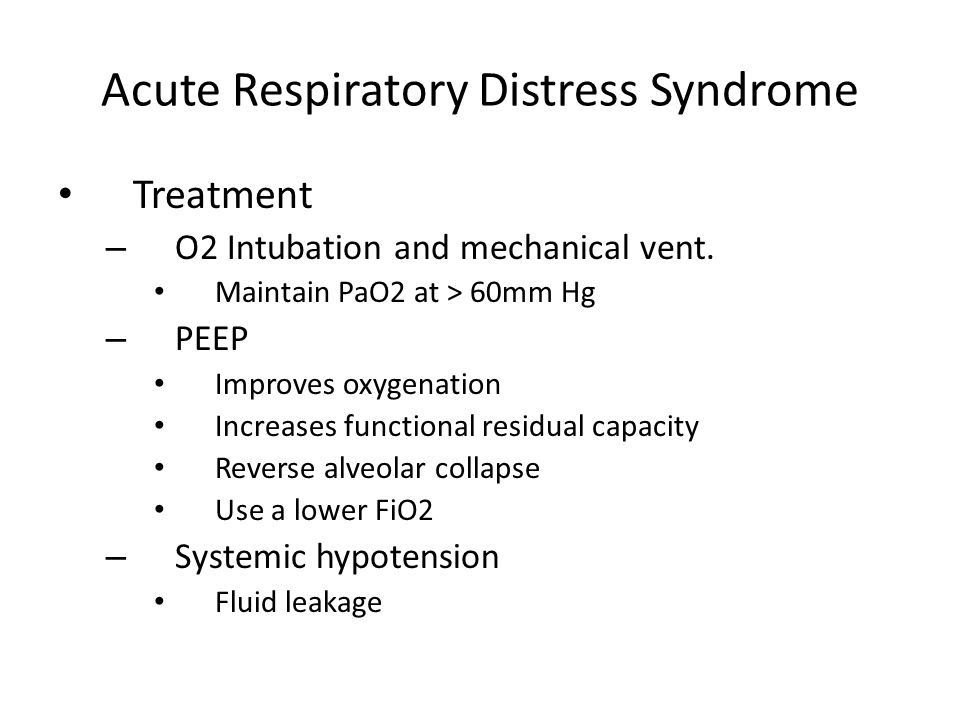 Acute Respiratory Distress Syndrome