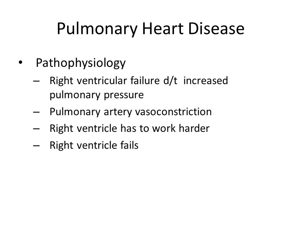 Pulmonary Heart Disease