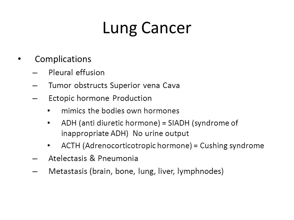 Lung Cancer Complications Pleural effusion