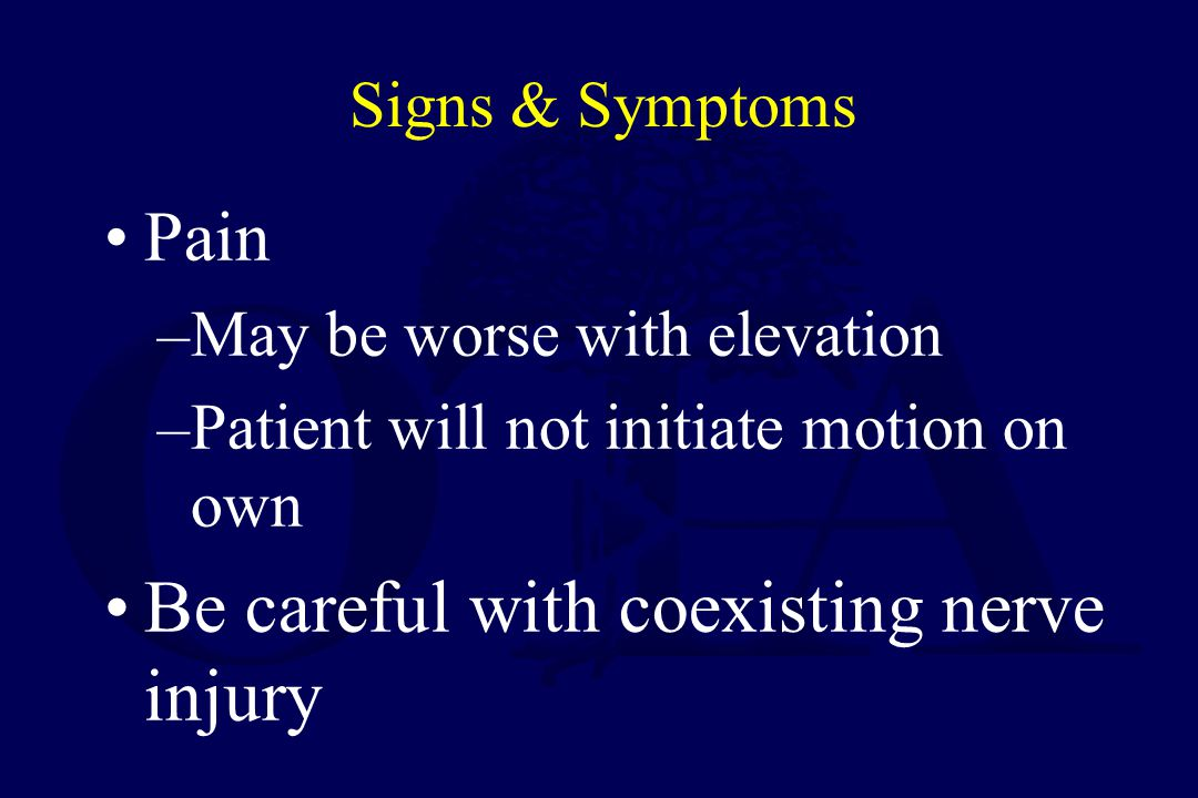 Be careful with coexisting nerve injury