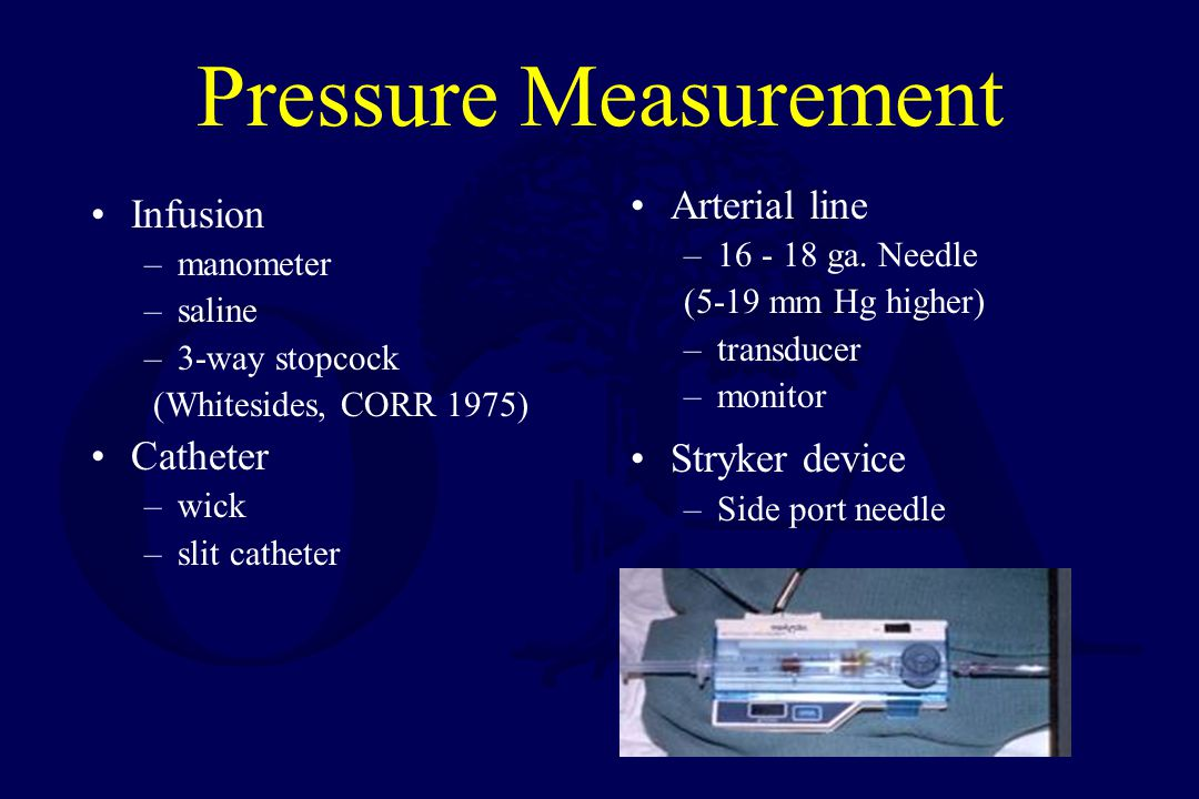 Pressure Measurement Arterial line Infusion Stryker device Catheter