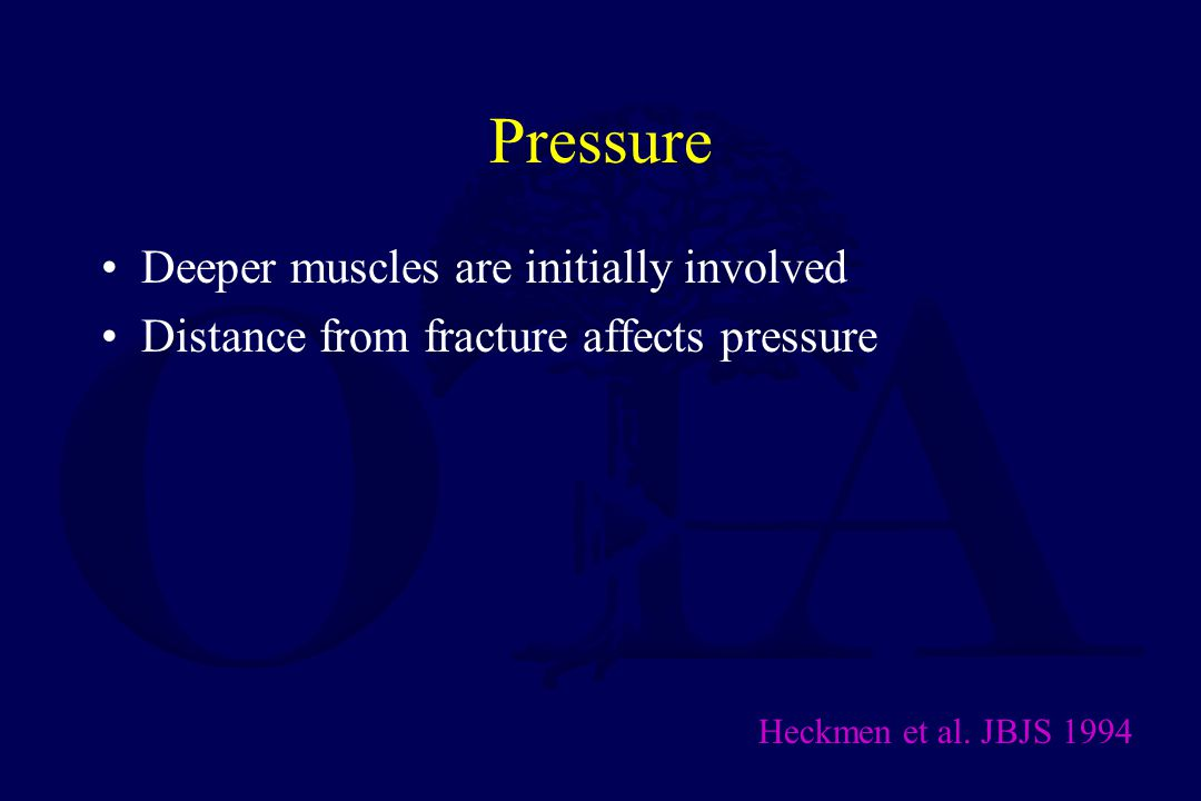 Pressure Deeper muscles are initially involved