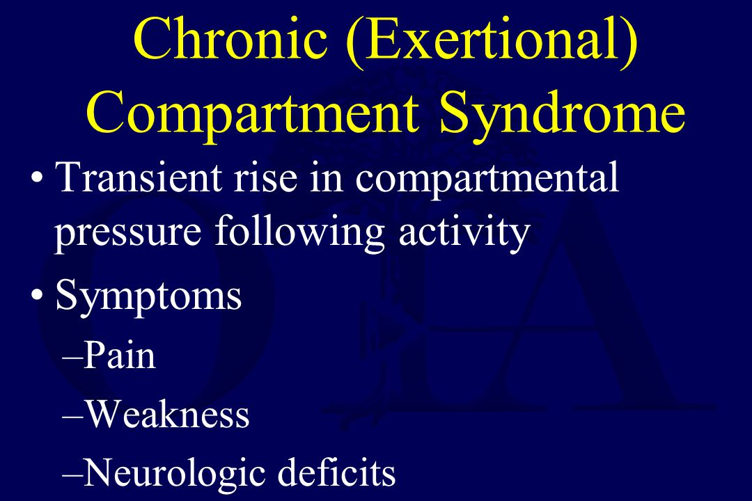 Chronic (Exertional) Compartment Syndrome