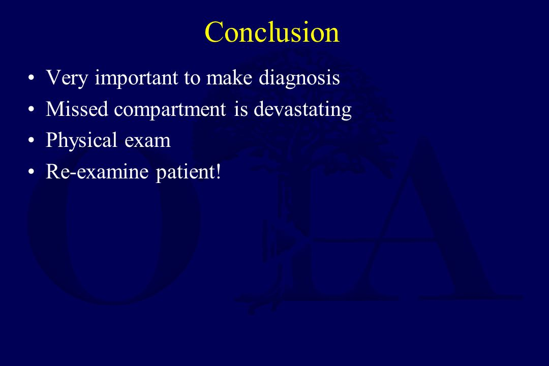 Conclusion Very important to make diagnosis