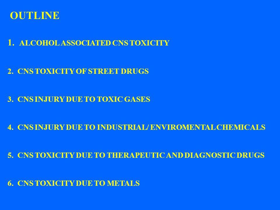 OUTLINE 1. ALCOHOL ASSOCIATED CNS TOXICITY