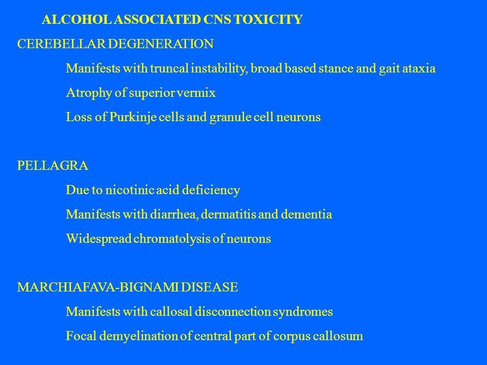 ALCOHOL ASSOCIATED CNS TOXICITY