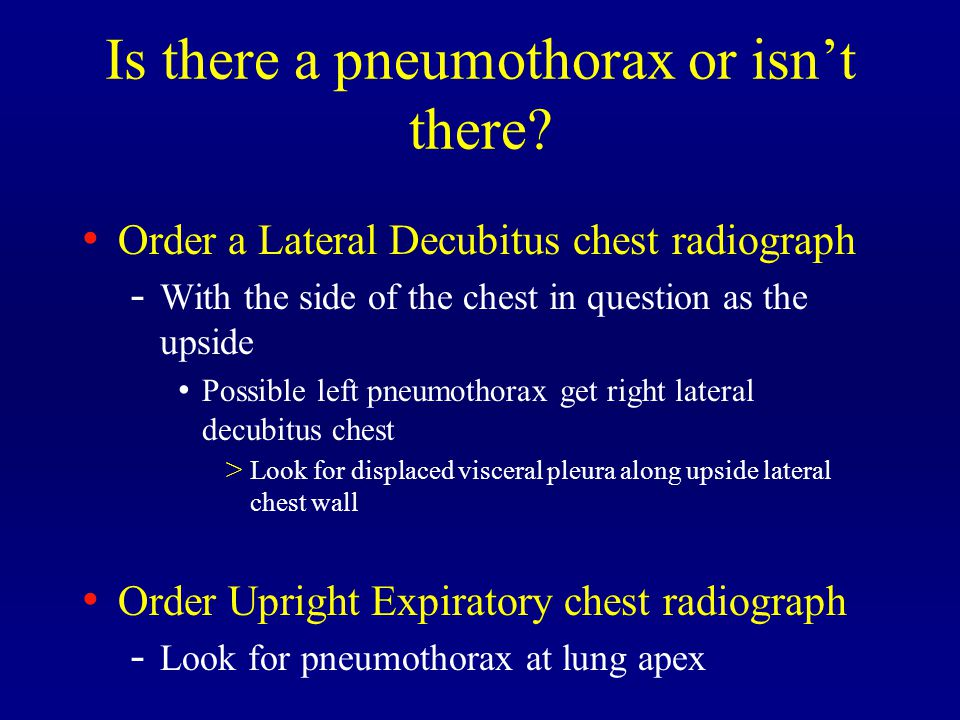 Is there a pneumothorax or isn't there