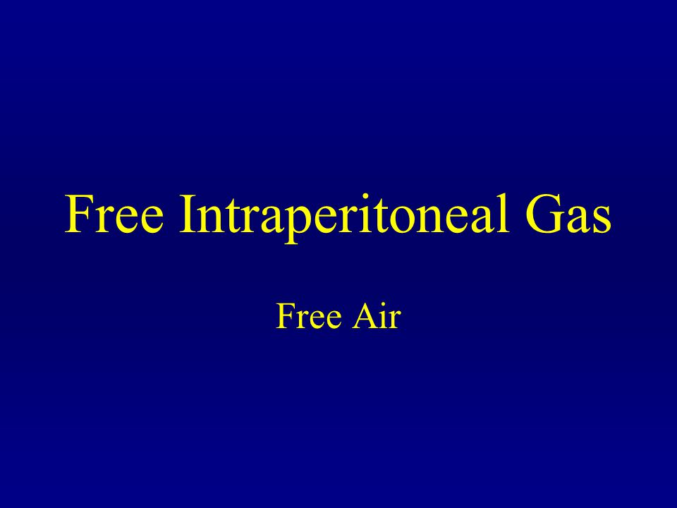 Free Intraperitoneal Gas