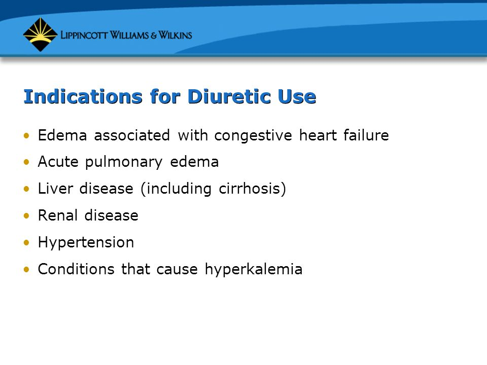 Indications for Diuretic Use
