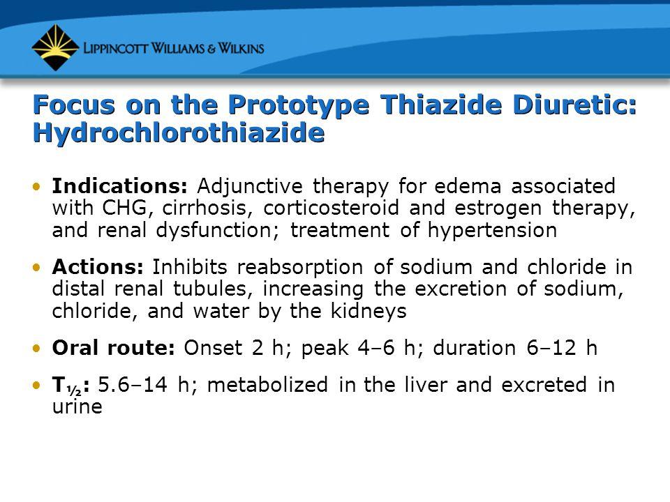 Focus on the Prototype Thiazide Diuretic: Hydrochlorothiazide