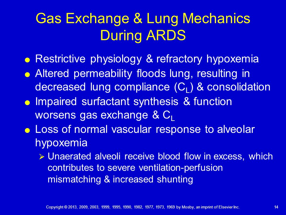Gas Exchange & Lung Mechanics During ARDS
