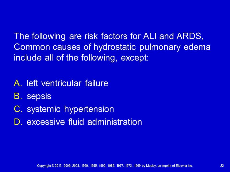 left ventricular failure sepsis systemic hypertension