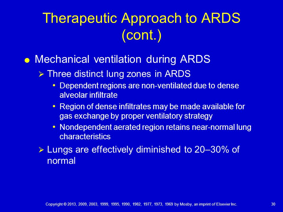 Therapeutic Approach to ARDS (cont.)