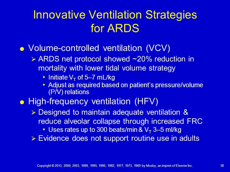 Innovative Ventilation Strategies for ARDS