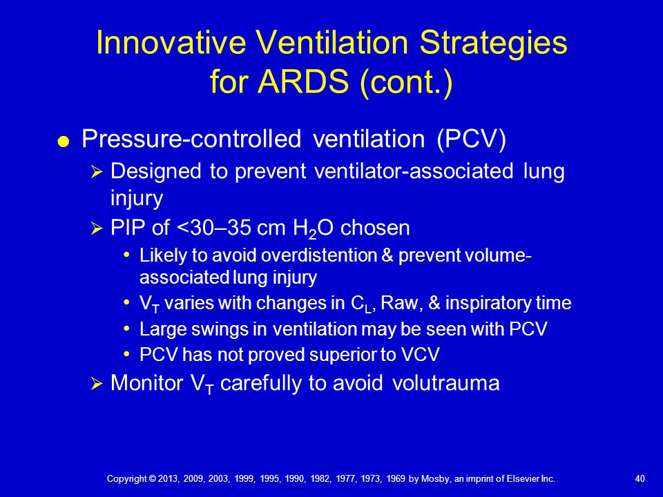 Innovative Ventilation Strategies for ARDS (cont.)