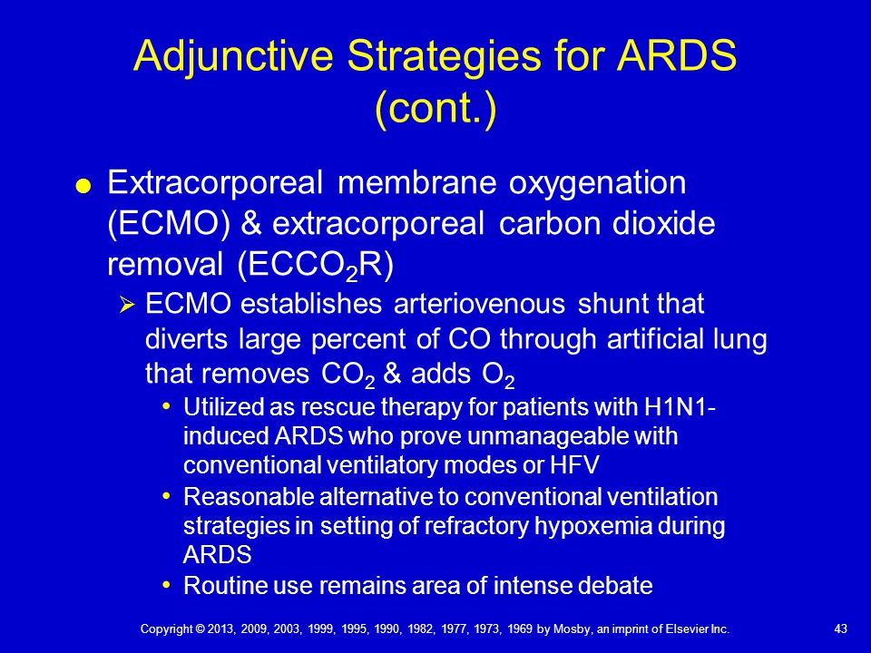 Adjunctive Strategies for ARDS (cont.)