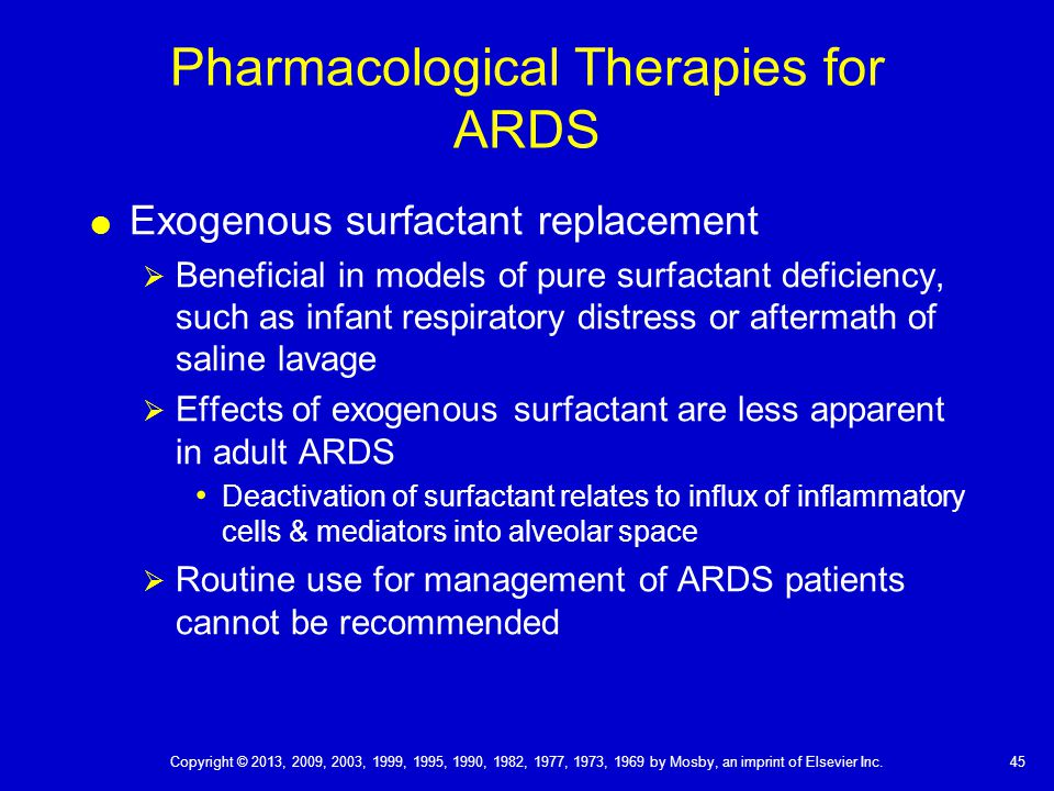 Pharmacological Therapies for ARDS